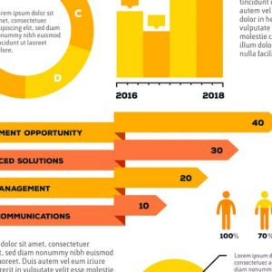 Collection of business infographic templates