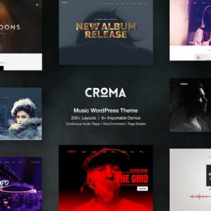 Croma - Responsive Music WordPress Theme with Ajax