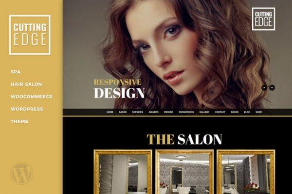 Cutting Edge - Spa Hair Salon Wordpress Theme