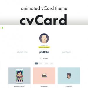cvCard - Animated vCard & Resume WordPress Theme
