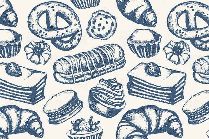 Delicious Sweets - hand drawn pattern