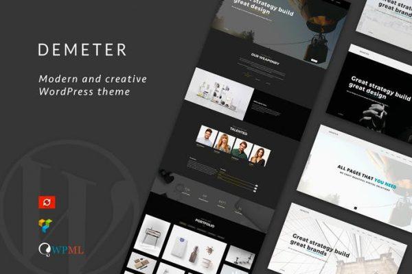 Demeter - One-Page Parallax WordPress Theme