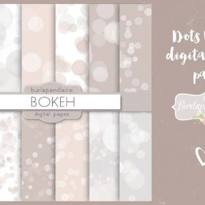 Dots bokeh digital paper pack