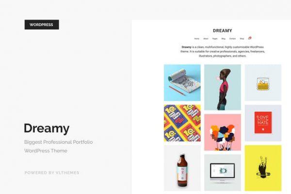 dreamy biggest portfolio wordpress theme