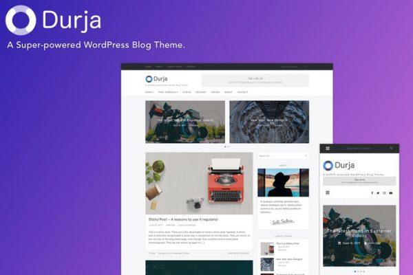 durja a responsive wordpress blog theme