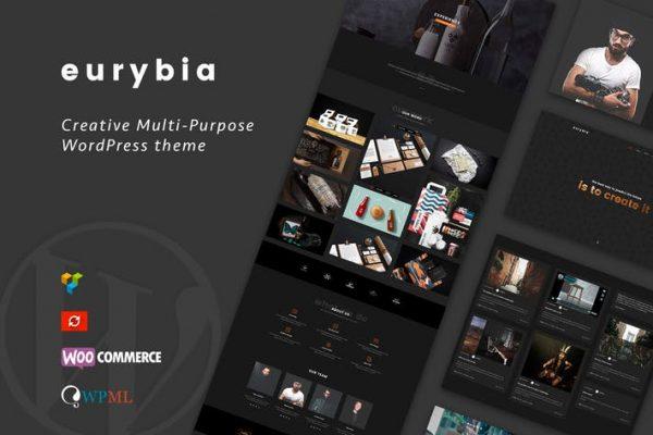 eurybia creative wordpress portfolio theme