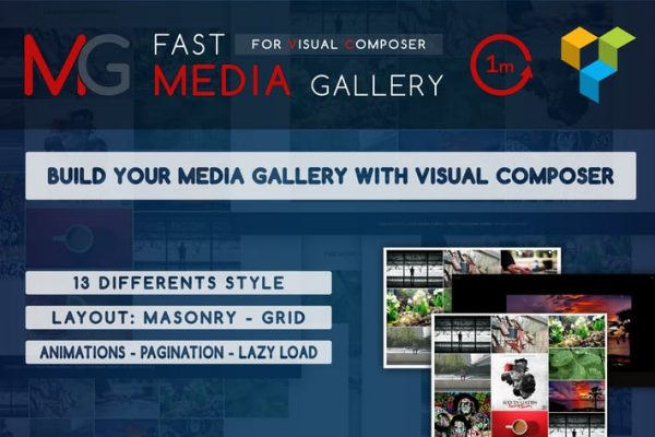 Fast Media Gallery For Visual Composer - WP Plugin