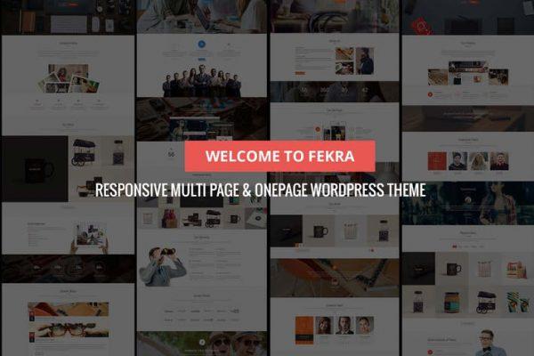 fekra multi pageone page wordpress theme
