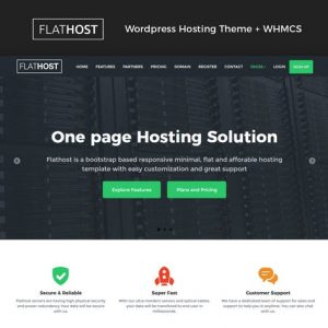 flathost wordpress hosting theme whmcs