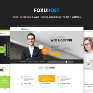 FoxuhHost - Web Hosting WordPress Theme + WHMCS