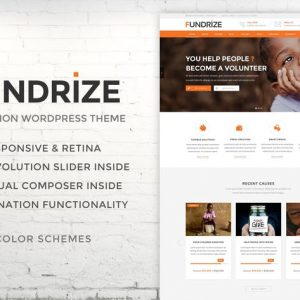 fundrize responsive donation charity wordpress