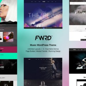fwrd music band musician wordpress theme