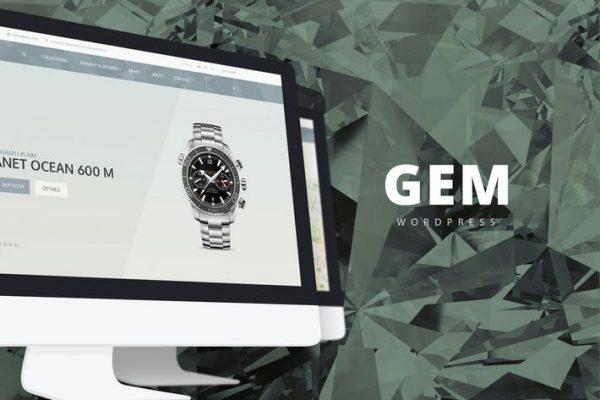 gem luxury ecommerce responsive wordpress theme