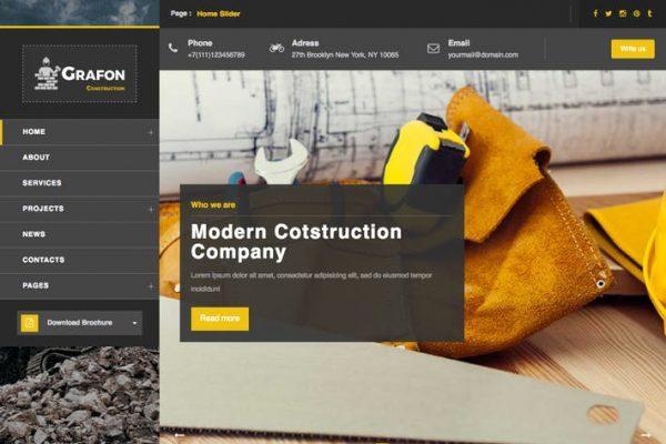 grafon construction renovate wordpress theme