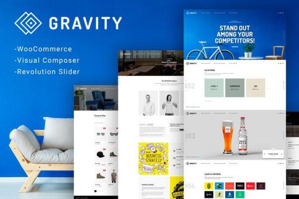 gravity ecommerce agency presentation theme