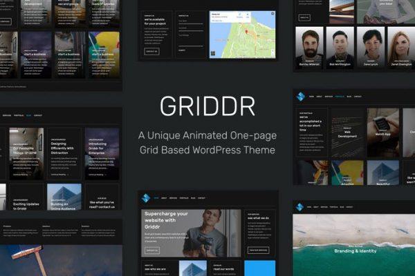 griddr animated grid creative wordpress theme