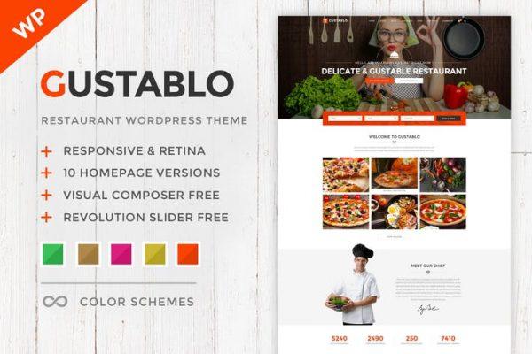 gustablo restaurant cafe responsive wordpress