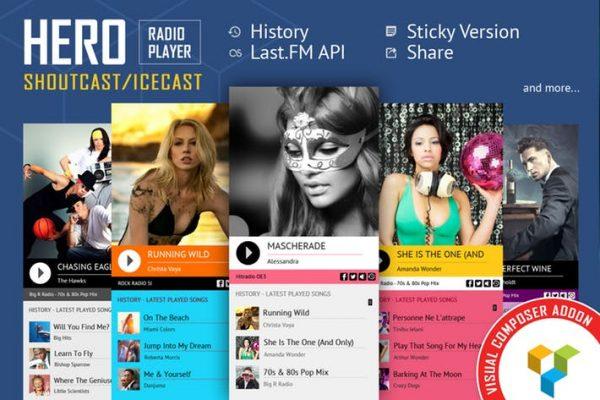 Hero - ShoutCast and IceCast Radio Player VC Addon