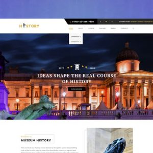 History - Museum & Exhibition WordPress Theme