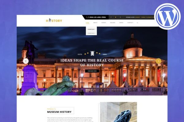 History - Museum & Exhibition WordPress Theme