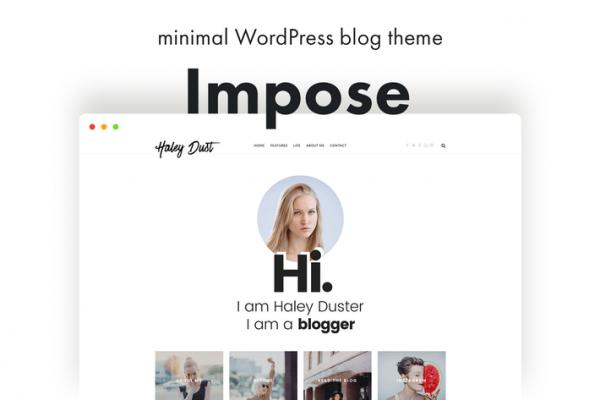 impose blog a wordpress blog theme for bloggers