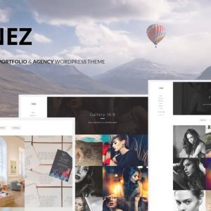 inez clean portfolio agency theme