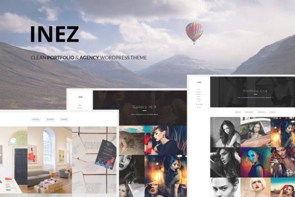 inez clean portfolio agency theme
