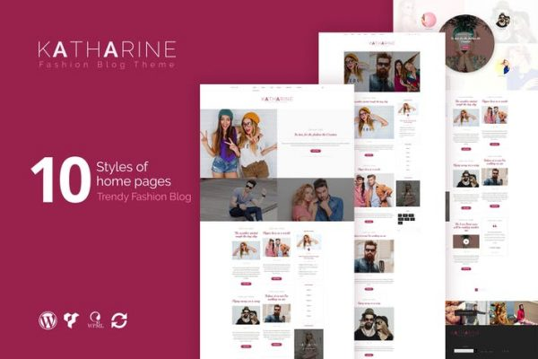katharine modern fashion blog wordpress theme