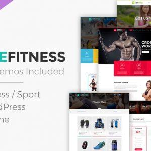 life fitness gym sport wordpress theme