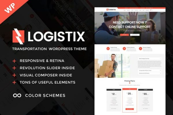 logistix responsive transportation wordpress the