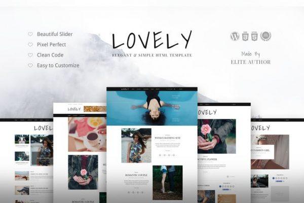 Lovely - Elegant & Simple Blog Theme 1