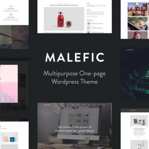 Malefic - One Page Responsive WordPress Theme
