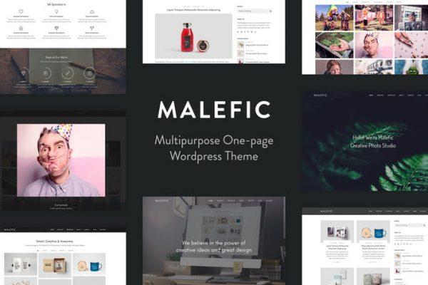Malefic - One Page Responsive WordPress Theme