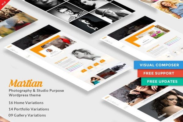 Martian | Photography & Studio Purpose WordPress