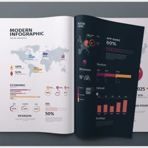 Modern editable infographics vol. 01
