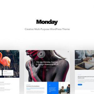 monday creative multi purpose wordpress theme