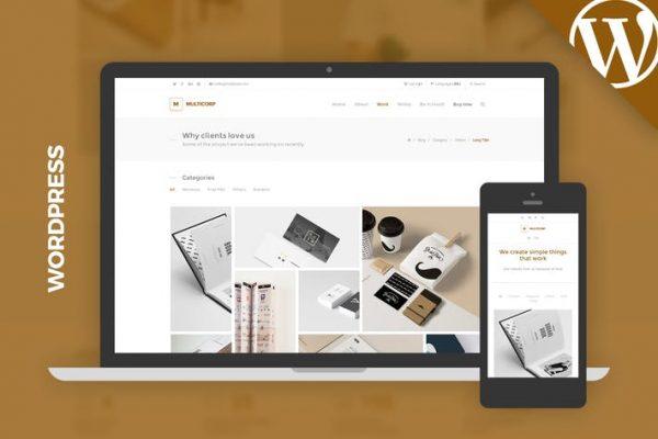 Multicorp WP - Clean Agency WordPress Theme