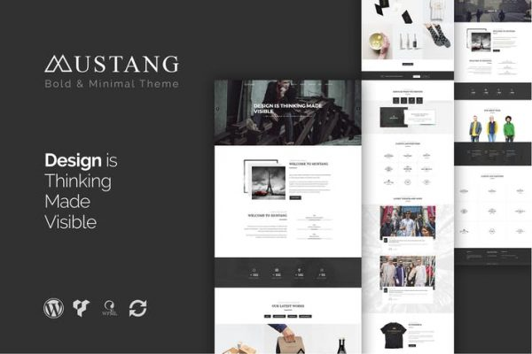Mustang - Bold & Minimal WordPress Theme 1