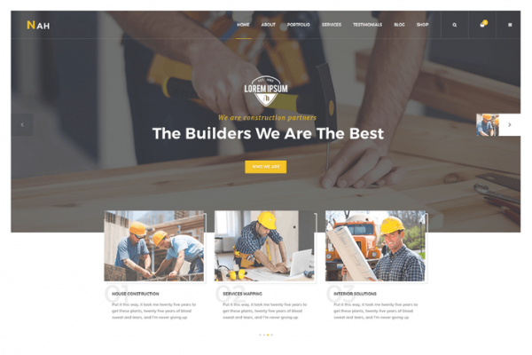 Nah Construction, Building Business WordPress