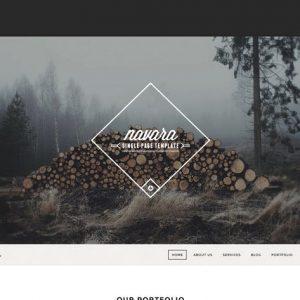 Navara - WordPress Single Page Theme