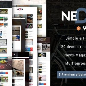 neder wordpress news magazine and blog theme