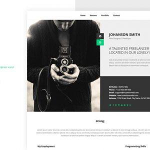 NEW Retina Ready WordPress Vcard Theme