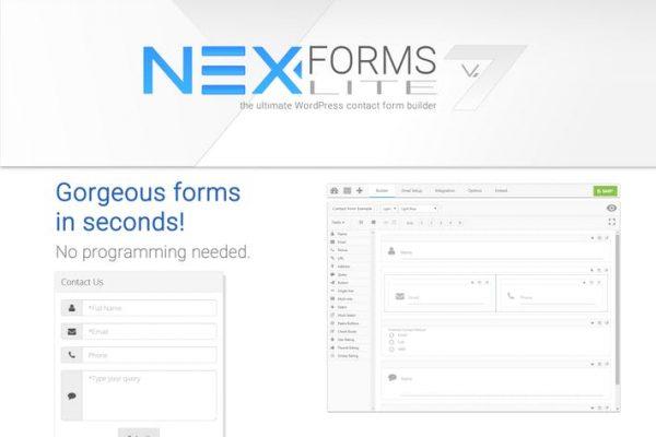 NEX-Forms Lite - WordPress Form Builder Plugin