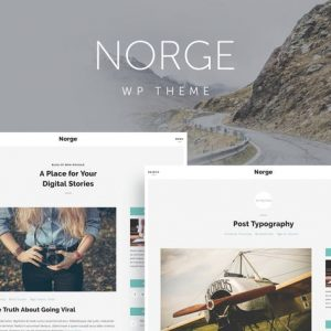 norge responsive blog wordpress theme