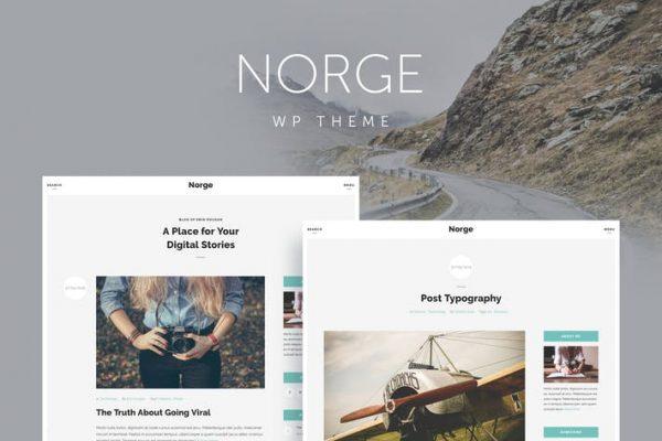 norge responsive blog wordpress theme
