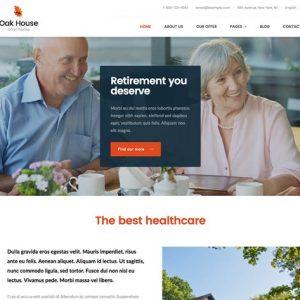 oak house senior care retirement wp theme