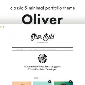 oliver classic minimal wordpress theme