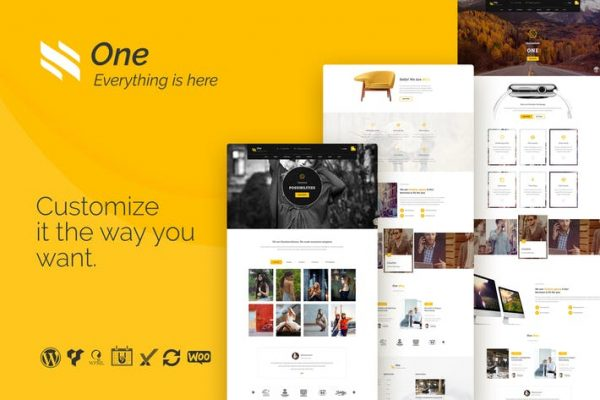 one business agency events woocommerce theme