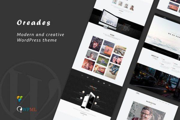 Oreades - Creative One-Page WordPress Theme
