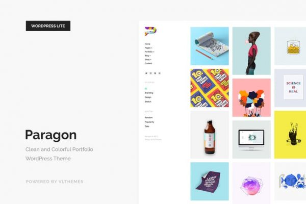 Paragon Lite - Colorful Portfolio WordPress Theme